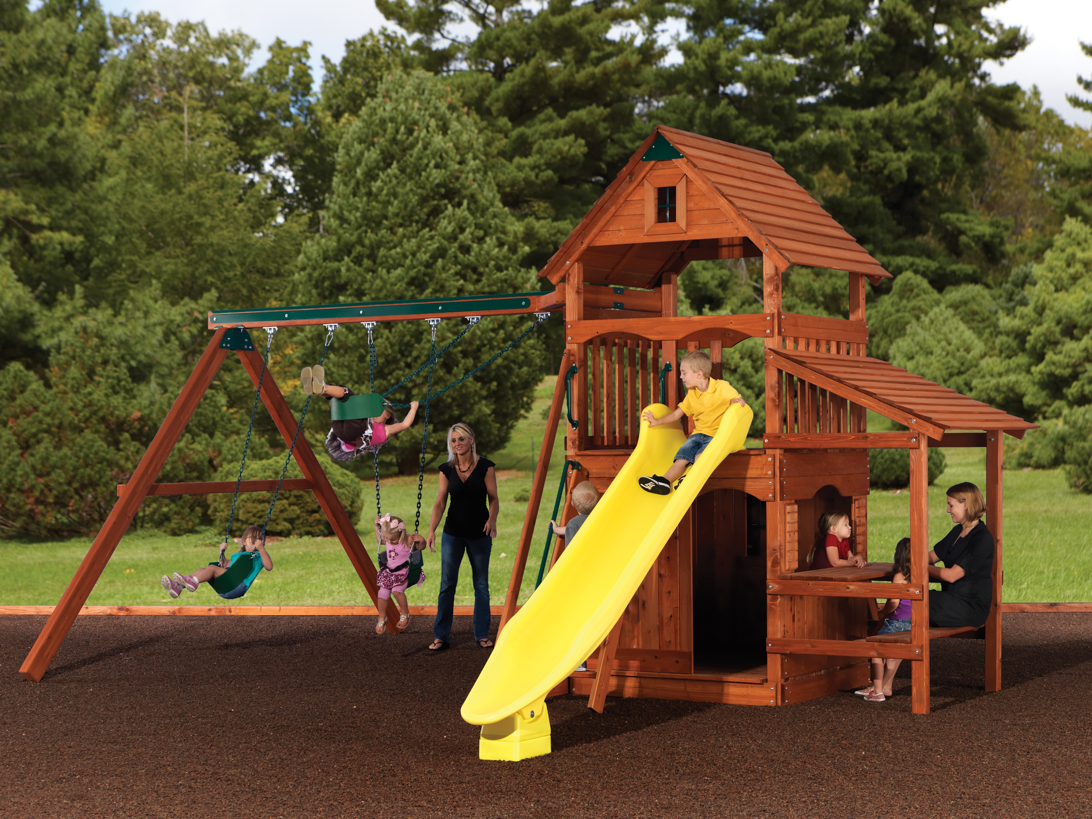 Backyard Adventures Idaho Magellan 2 playset wooden playground install