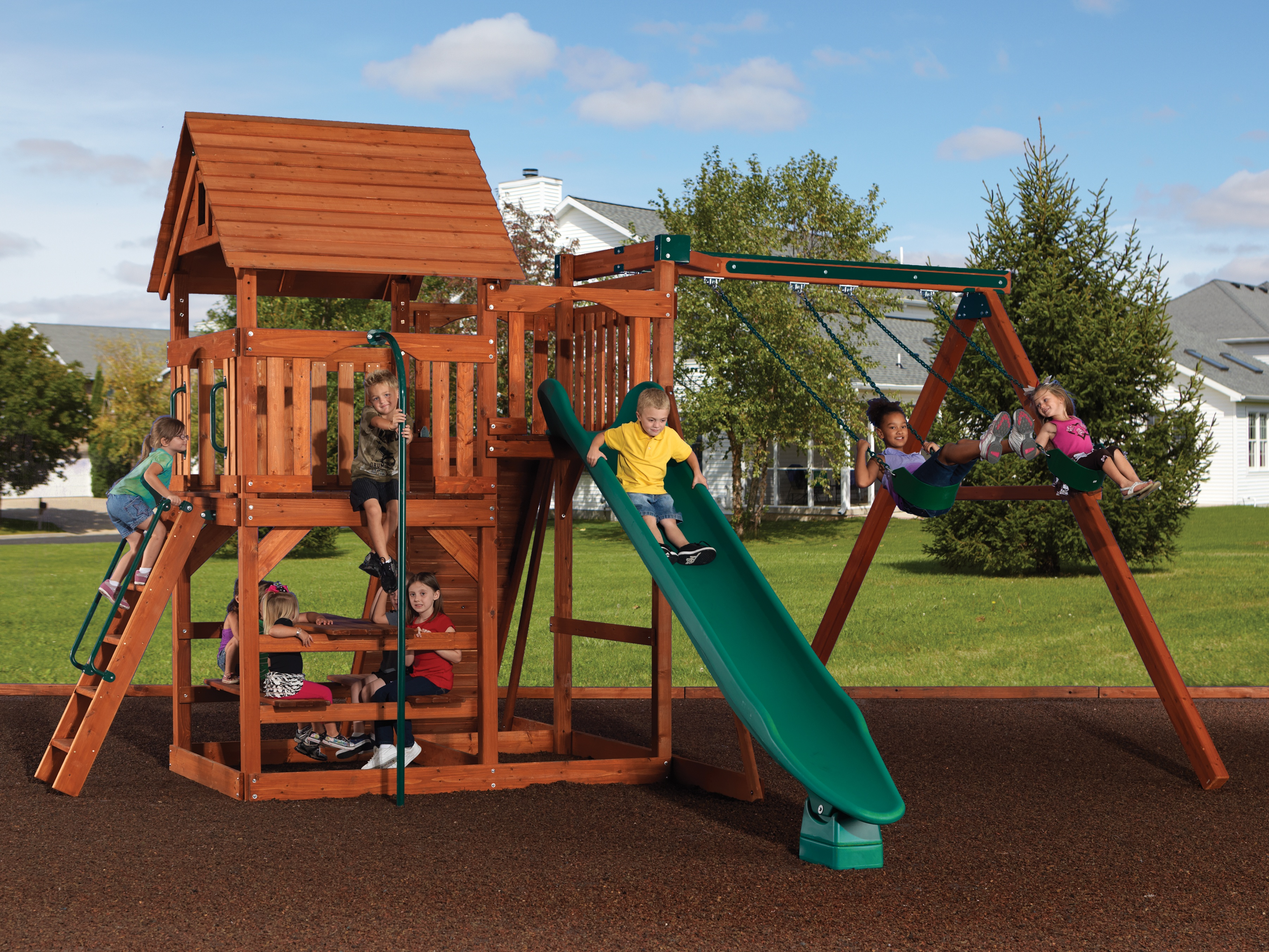 Backyard Adventures Idaho Magellan 3 playset wooden playground install