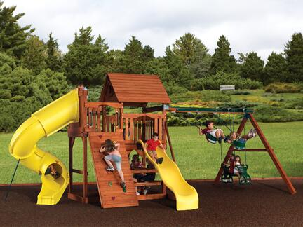 Backyard adventures magellan 4 wooden playset installed