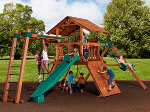 Backyard Adventures Mountaineer 2 wooden playset idaho playground installed