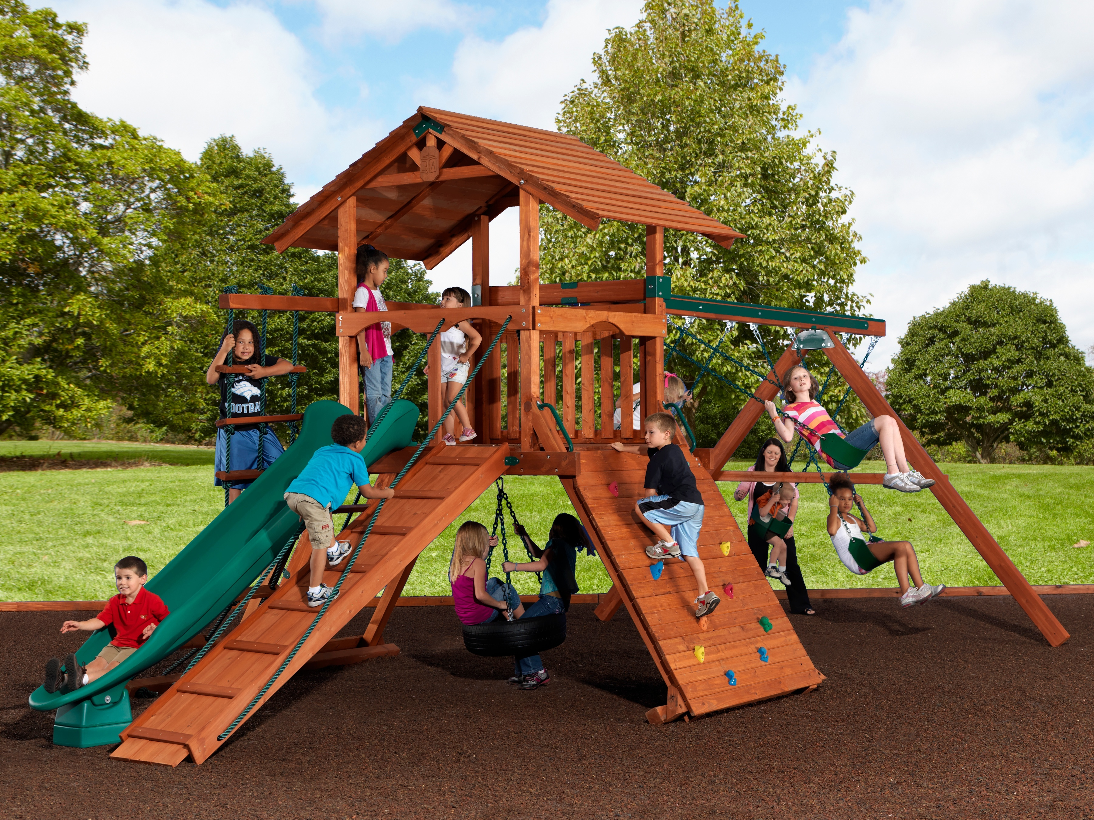 Backyard Adventures Mountaineer 3 wooden playset install