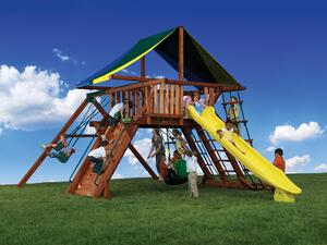 Backyard Adventures Olympian Peak Series 1 playset playground install