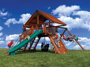 Backyard Adventures Idaho Olympian Peak 2 playground playset install
