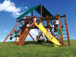 Backyard Adventures Idaho Olympian Peak 3 playset playground install