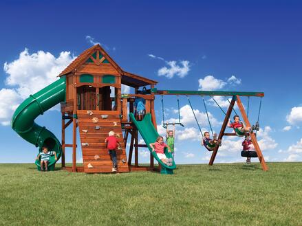 Backyard Adventures Idaho Playset Playground Wooden Install