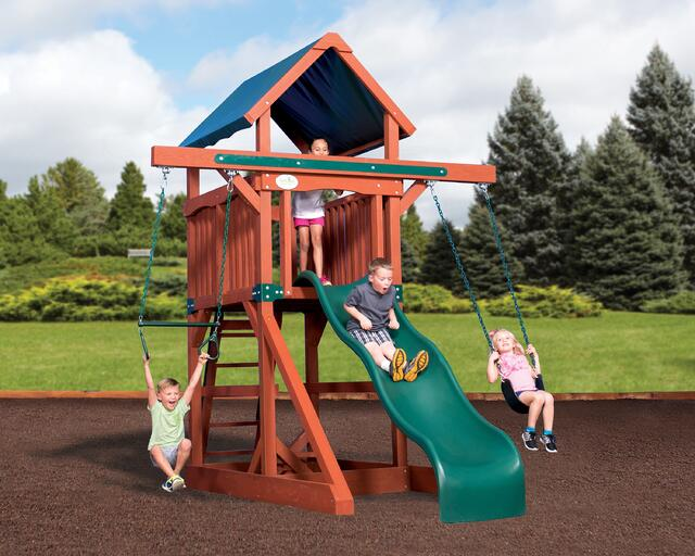 Children on playset