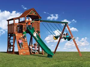 Backyard Adventures Titan Treehouse 1 playset install idaho playgrounds
