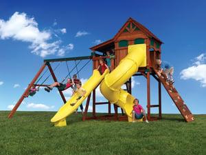 Backyard Adventures Titan Treehouse 2 Idaho playset installer