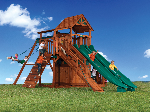 Backyard Adventures Titan Treehouse 3 playground playset install