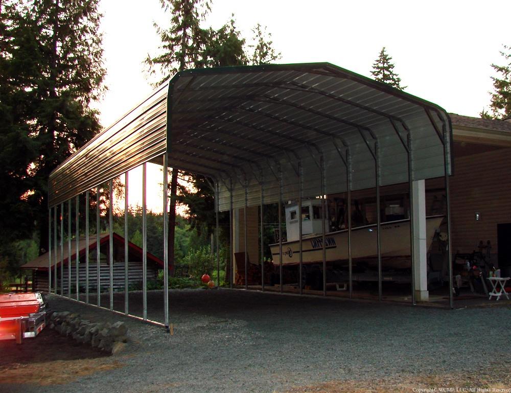 Metal carport idaho rounded style