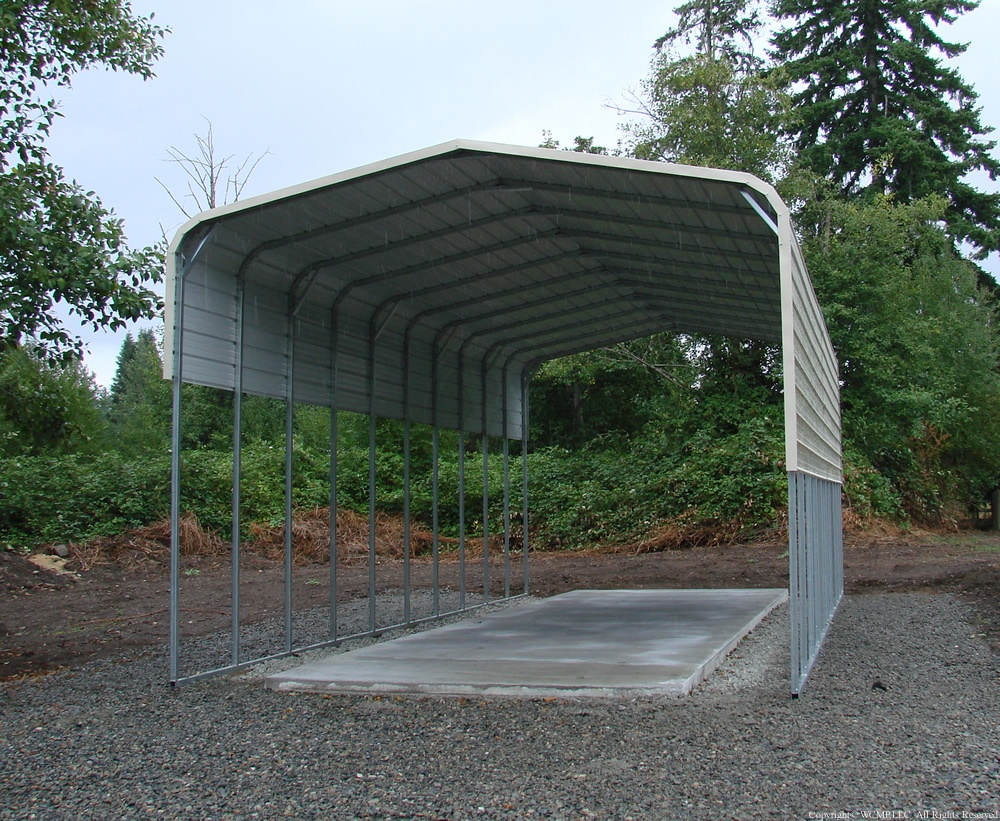 RV cover carport rounded style