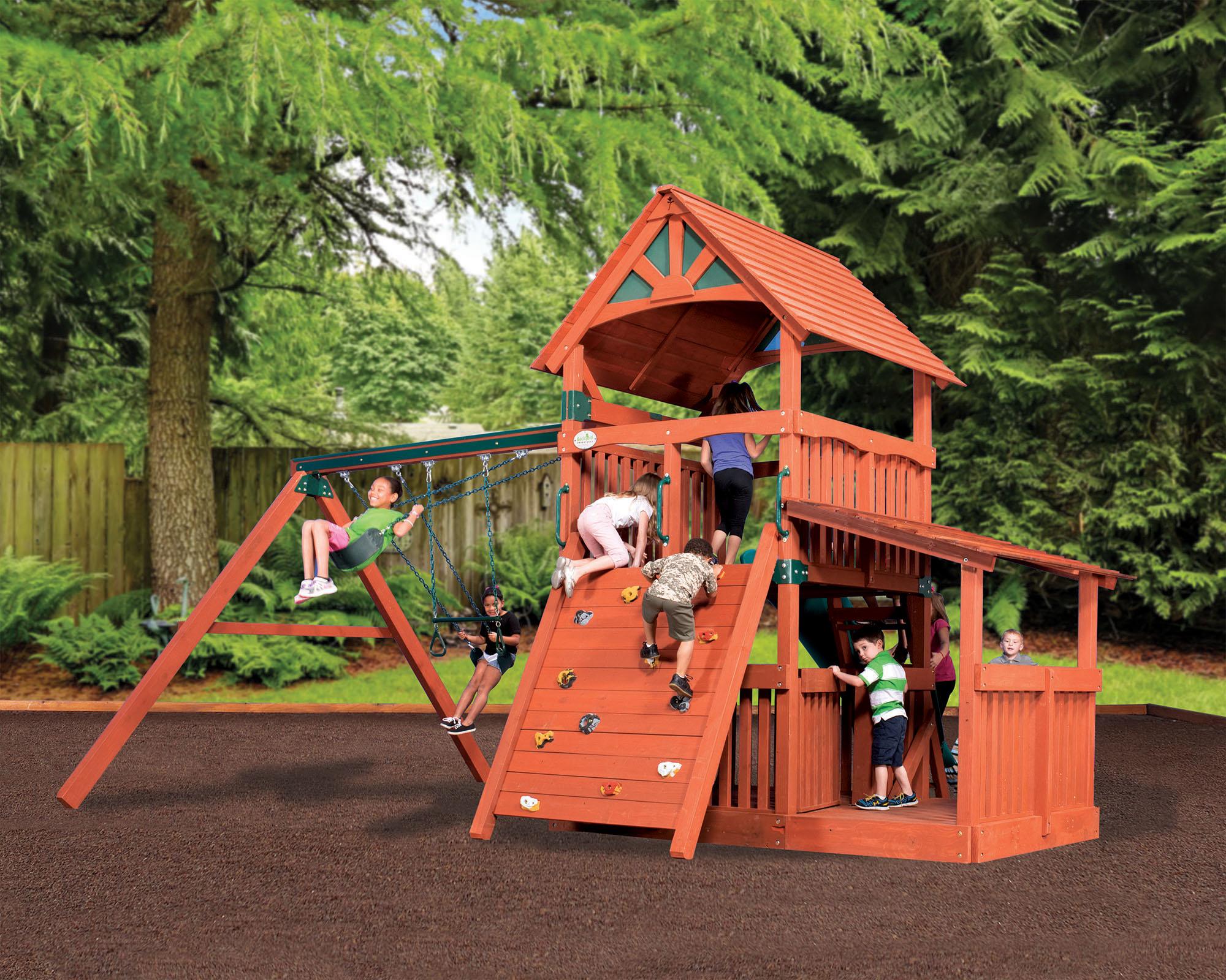 backyard adventures adventure treehouse jumbo 3 playset