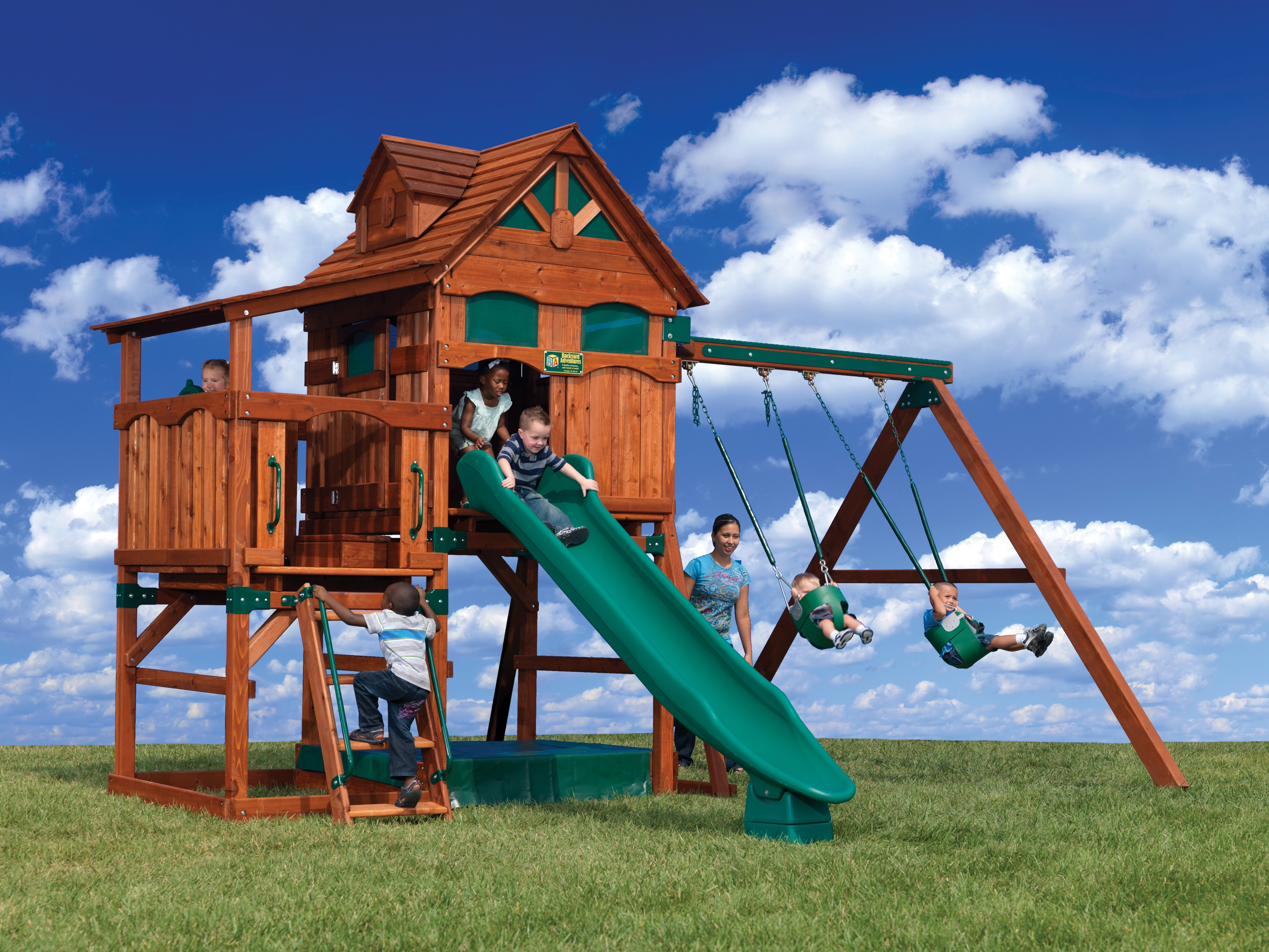 backyard adventures adventure treehouse 3 outdoor playsets