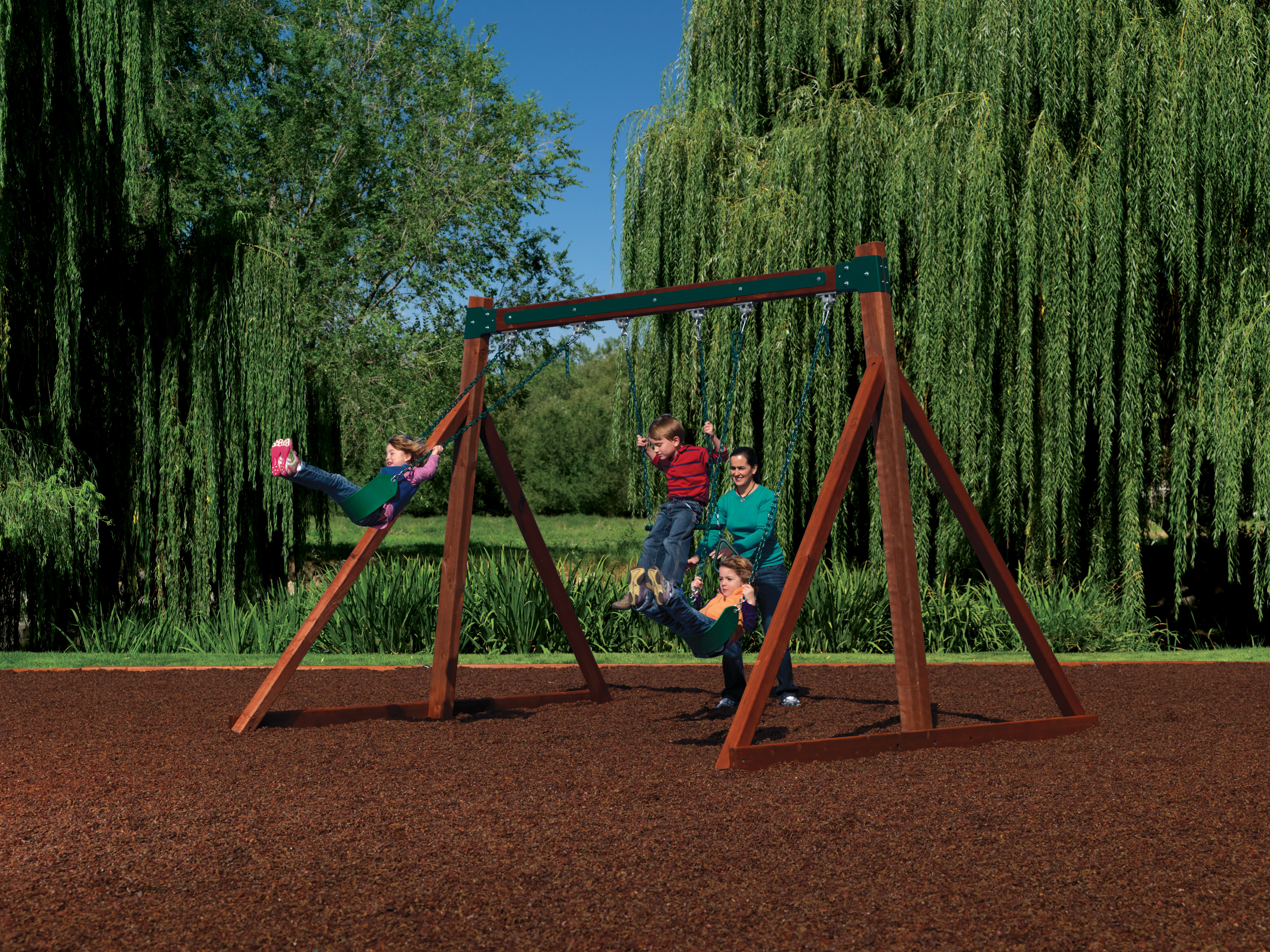 Free Standing Swingset by Backyard Adventures Idaho Playsets Playgrounds