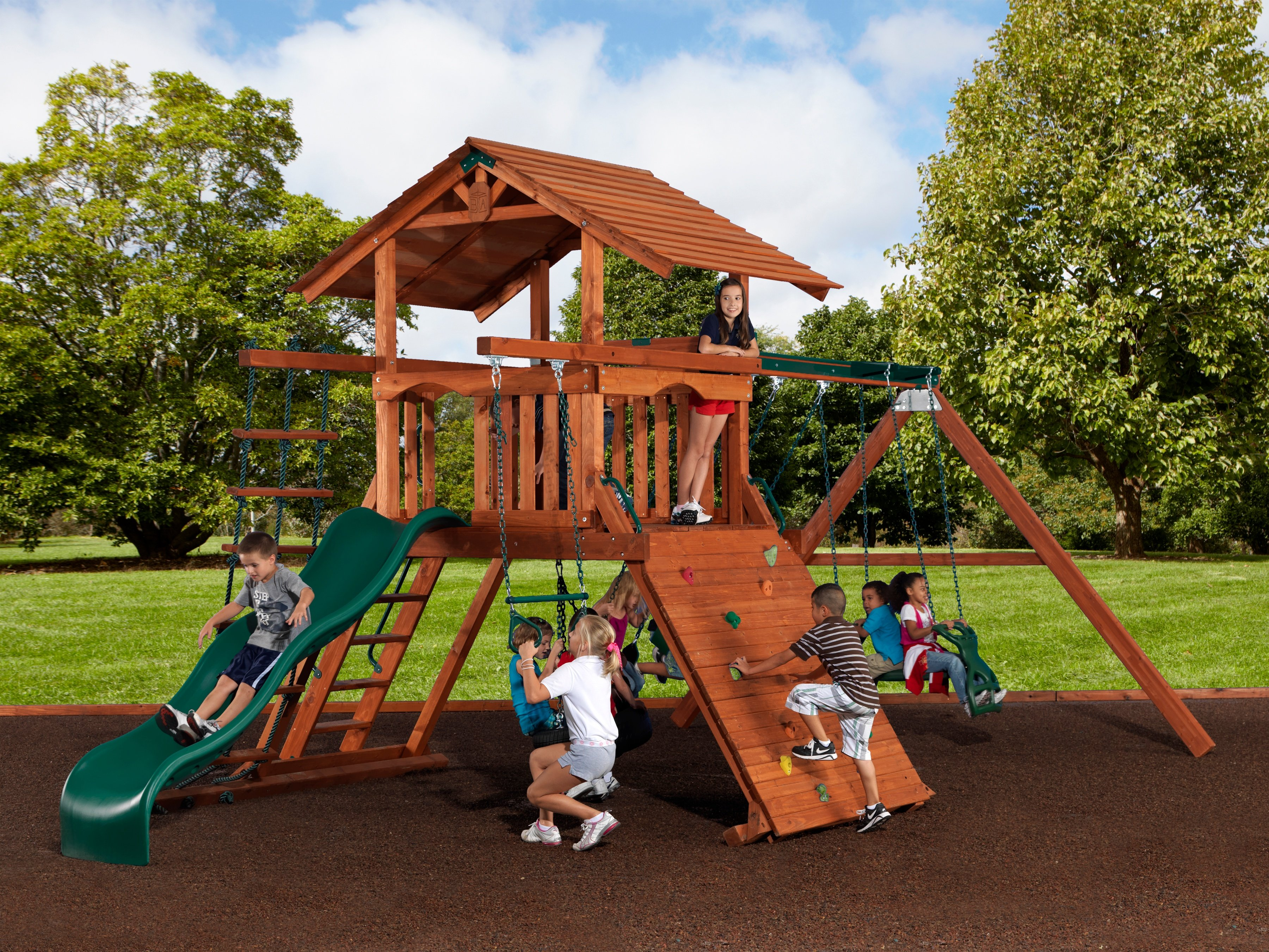 Exceptionnel Backyard Adventures Idaho Playsets Mountaineer 1 Playground Wooden Install  ...