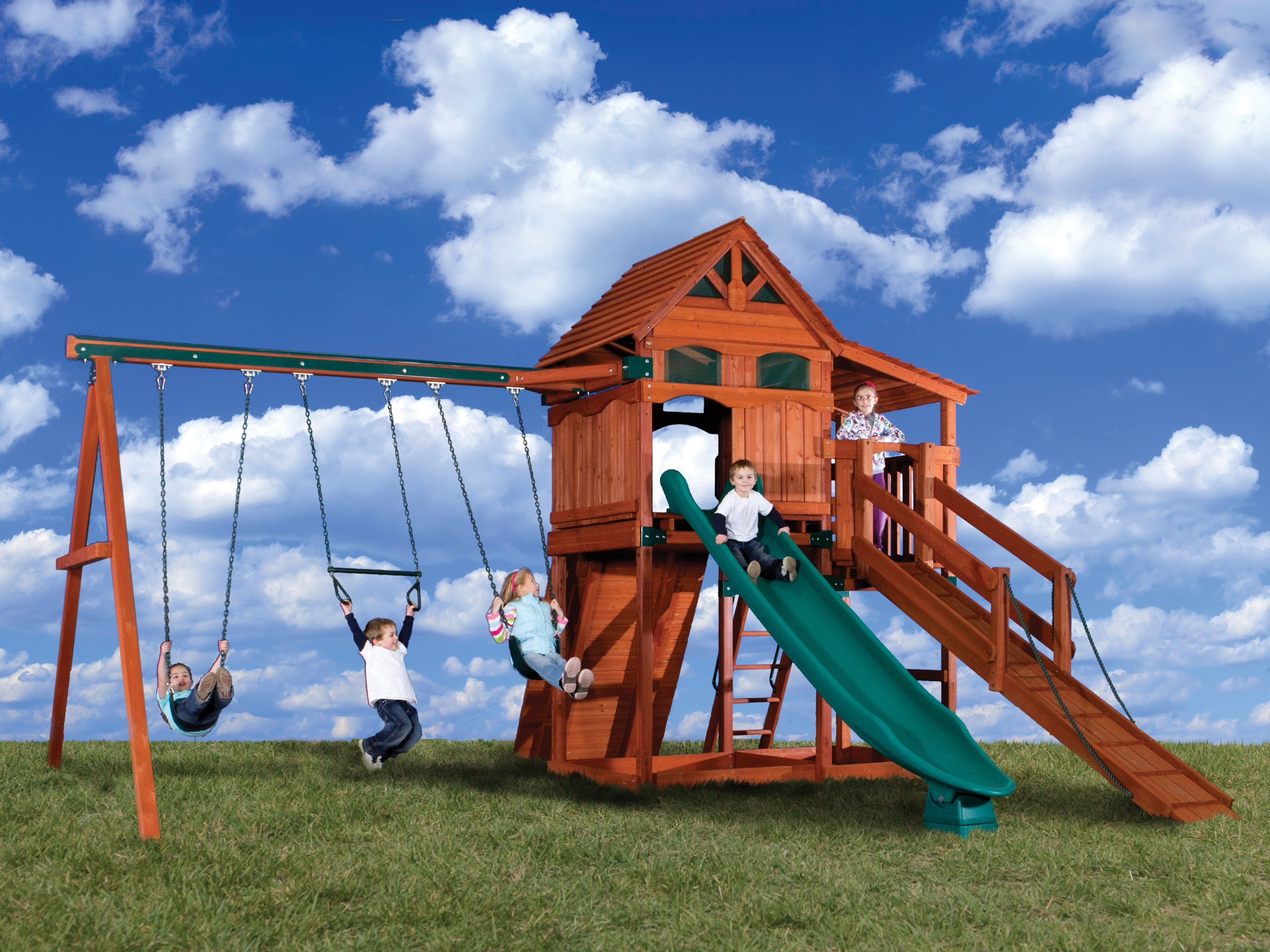 ... Backyard Adventures Olympain Treehouse 4 Playground Front ...