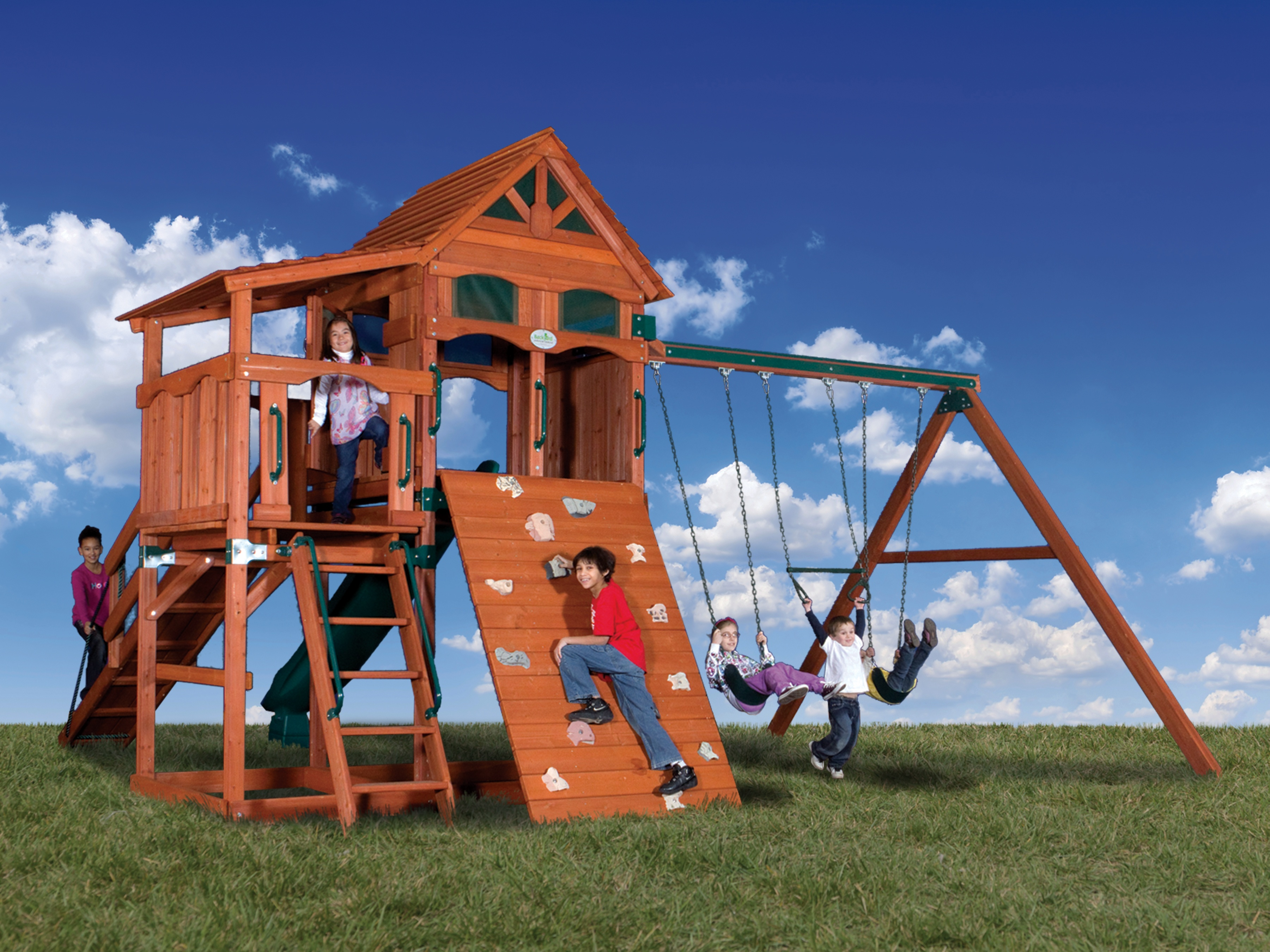 Backyard Adventures Olympain Treehouse 4 Playground Back ...
