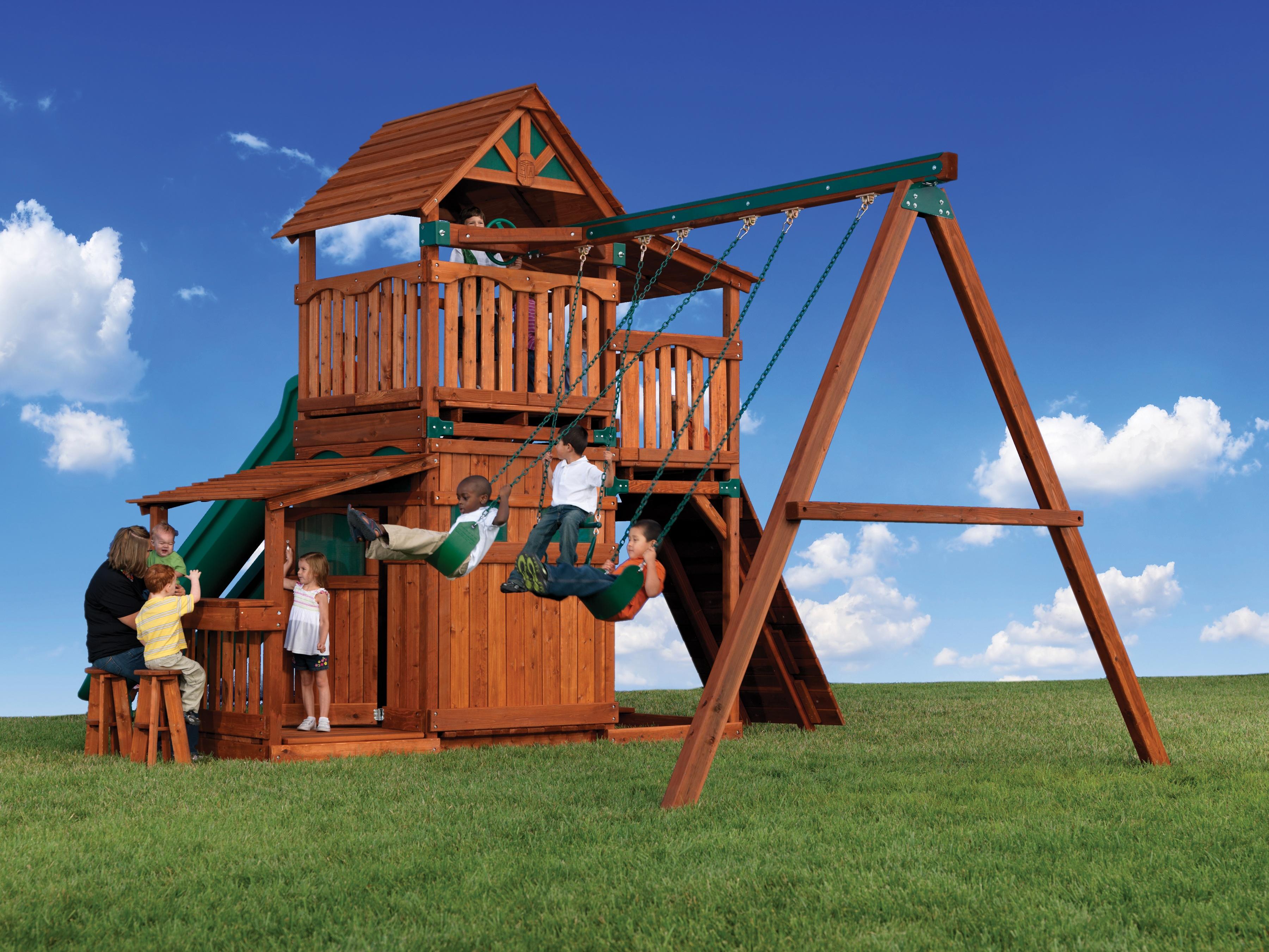 Attirant Backyard Adventures Titan Treehouse 2 Playground Front ...